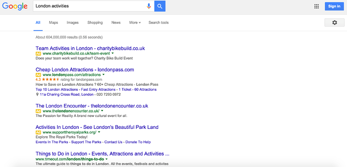 Google Search Ads New Layout - Top