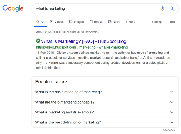 people also ask what is marketing